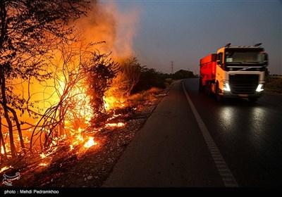آتش زدن مزارع بعد از برداشت محصول - خوزستان