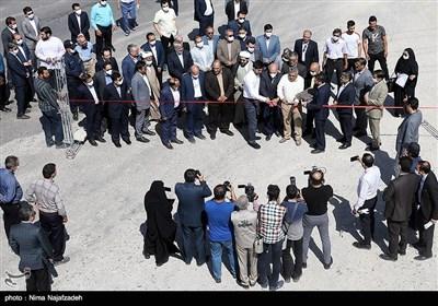 مراسم افتتاح جاده دسترسی به آرامستان بهشت رضوان -مشهد