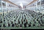 نماز جمعه تبریز پس از ماهها تعطیلی کرونایی با رعایت پروتکلهای بهداشتی برگزار شد+تصاویر