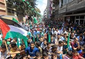 Hamas Organizes Mass Rally in Gaza against Israel's Annexation Plan