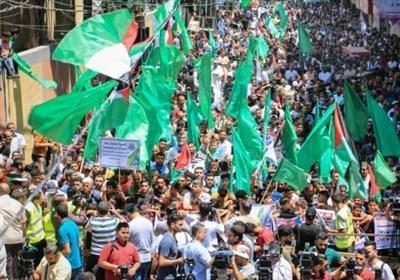 فلسطین|تظاهرات در غزه در محکومیت توطئه گسترش اشغالگری/ تأکید حماس بر پایبندی به گزینه وحدت ملی