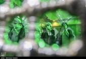 خواندن نماز آیات توسط حجت الاسلام سیدابراهیم رئیسی رئیس قوه قضائیه و دیگر مسئولان قضایی به علت خورشید گرفتگی صبح امروز در حاشیه مراسم تجدید میثاق با آرمان های امام خمینی(ره)