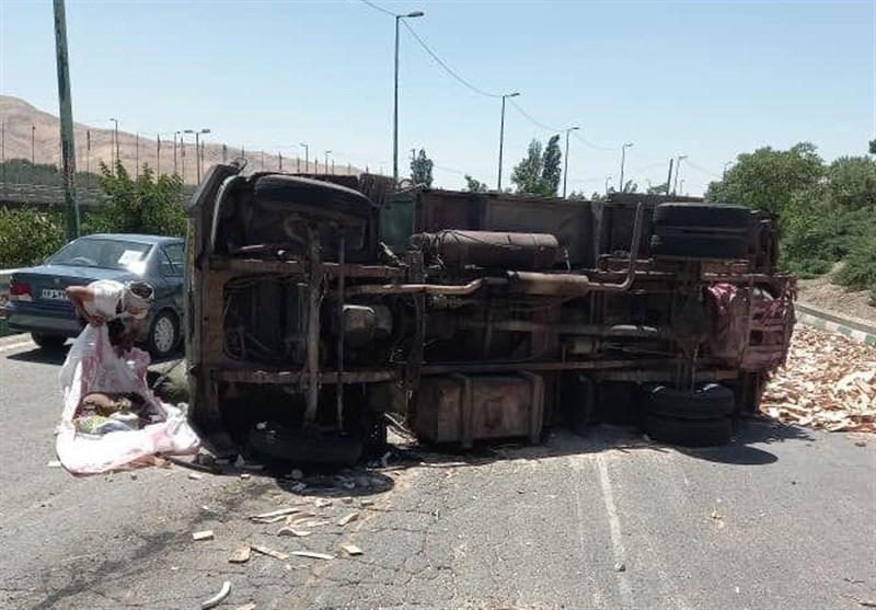 تصادف خونین 4 خودرو در بزرگراه شهید یاسینی + تصاویر