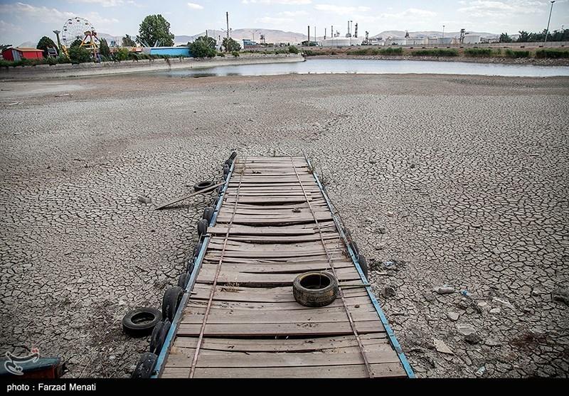 تنها نشانه حیات شهربازی پلمب شده کرمانشاه خشکید+ تصاویر