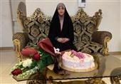 جشن تولد دختر شهید بیدی همزمان با روز دختر+عکس