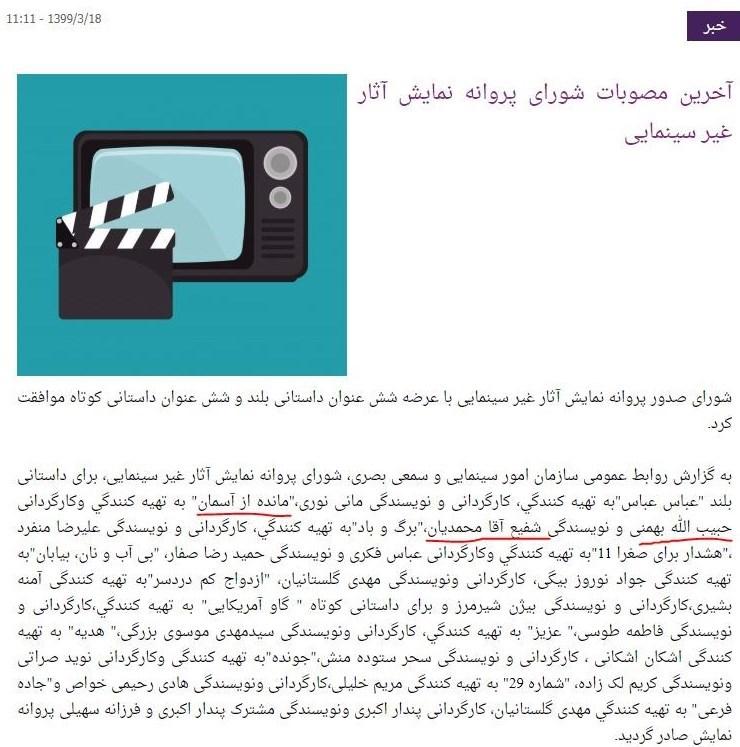 سینما , سازمان امور سینمایی و سمعی و بصری ,