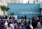 فلسطین| تظاهرات مردم غزه مقابل مقر سازمان ملل در محکومیت توطئه الحاق