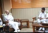 فرمانده ناو هندوستانی با فرمانده قرارگاه مقدم جنوب نداجا دیدار کرد