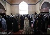 حضور باشکوه بانوان قزوین در نخستین نماز جمعه قزوین بعد از کرونا به روایت تصویر