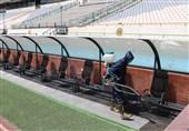 انجام سومین مرحله ضدعفونی کردن ورزشگاه آزادی برای دیدار استقلال و سایپا