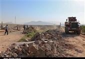 """24هزار مترمربع اراضی دولتی در روستای """"کانی"""" قشم رفع تصرف شد"""
