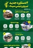 اینفوگرافیک/ 4دستاورد جدید نیروی زمینی سپاه