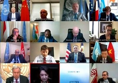 نشست مجازی شورای امنیت درباره ایران؛ چین: بحران کنونی نتیجه خروج آمریکا از برجام است/ روسیه: قطعنامه تمدید تحریم تسلیحاتی ایران خیالی است