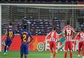 لالیگا| بارسلونا در شب 700 گله شدن مسی به اتلتیکومادرید هم امتیاز داد/ راه برای قهرمانی رئال هموارتر شد