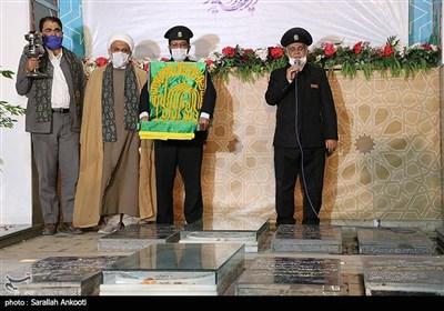حضور خدام رضوی در مزار شهید سپهبد قاسم سلیمانی در کرمان