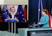 """تسریع اجرای بسته اقتصادی کرونایی اروپا محور کنفرانس ویدئویی """"مرکل"""" و """"فون در لاین"""""""