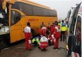 3 کشته و 25 مصدوم در تصادف اتوبان ساوه