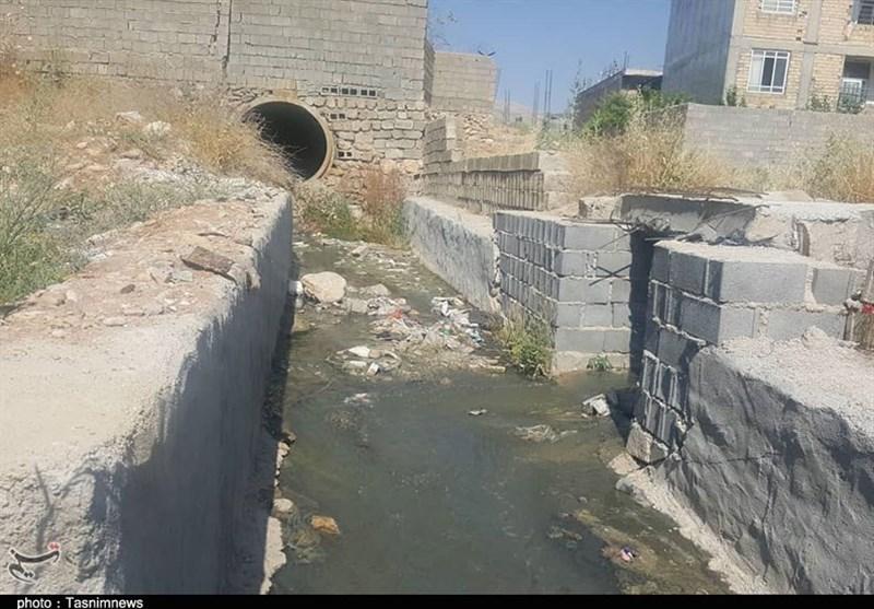 یاسوج| نگرانی اهالی نجف آباد از اجرای ناقص یک پروژه عمران شهری+عکس