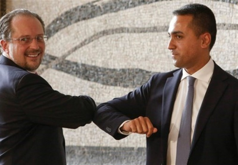 دیدار کرونایی وزرای خارجه اتریش و ایتالیا در رم