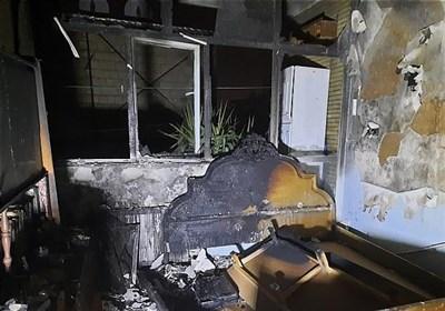 آتشسوزی مرگبار در ساختمان ویلایی + تصاویر