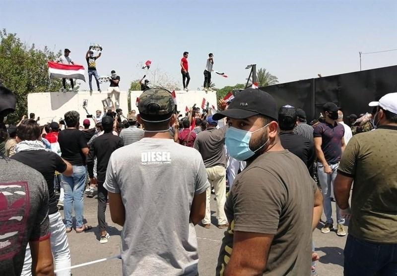 عراق| ورود عناصر خرابکار به تظاهرات کربلا و درگیری با نیروهای امنیتی
