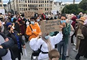 Thousands Protest against College Headscarf Ban Ruling in Brussels (+Video)