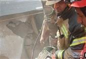 ریزش ساختمان در اهواز 2 کشته برجای گذاشت