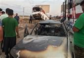 تصادف زنجیرهای و واژگونی اتوبوس در آزادراه کرج-قزوین/ 2 نفر فوت و 31 نفر مصدوم شدند
