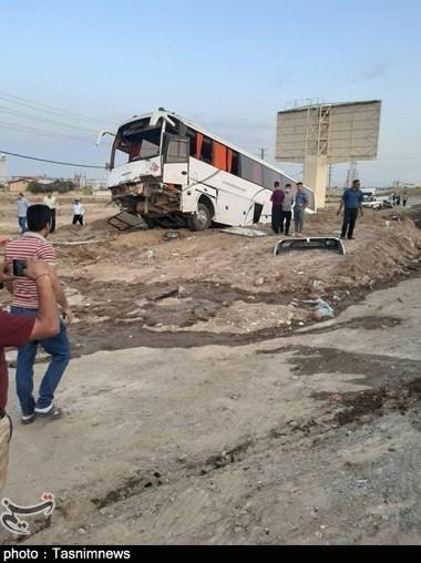 جزئیات جدید از تصادف خونین در کرج / اتوبوس حامل مسافران دیواندره بود / مصدومیت 23 سرنشین اتوبوس + تصاویر