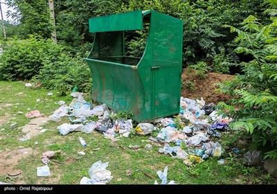 زباله سوغات گردشگران به روستاهای رحیم آباد گیلان