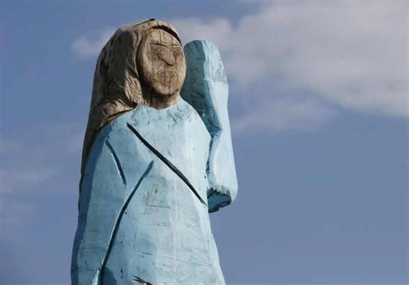Melania Trump Sculpture Set Ablaze in Slovenia