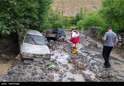 وقوع سیل در تبریز