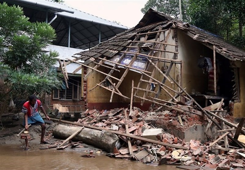 مقتل23 شخصاً على الأقل وتشرید الآلاف بسبب الأمطار الغزیرة فی نیبال