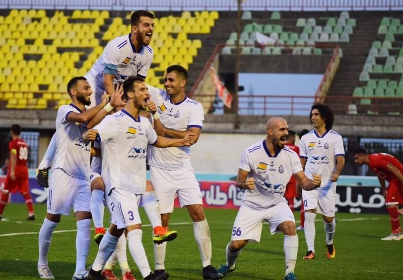 لیگ دسته یک فوتبال باشگاههای ایران  «ملوان بندرانزلی» در مقابل «مس رفسنجان» بهبرتری دست یافت