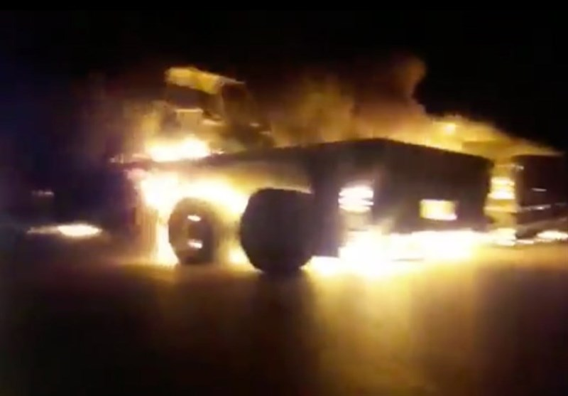 US Military Convoy Reportedly Attacked, Torched in Iraq (+Video)