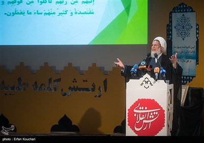 سخنرانی حجت الاسلام محمدحسنی رییس سازمان عقیدتی سیاسی ارتش در آیین نکوداشت چهل سال فعالیت قرآنی آجا