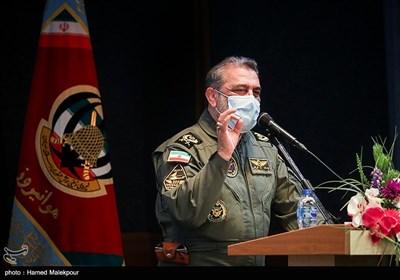 سخنرانی امیر یوسف قربانی فرمانده هوانیروز در جشنواره مالک اشتر هوانیروز ارتش نزاجا