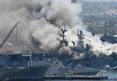 Fire, Blast on US Naval Ship in San Diego Port Leaves 21 Injured