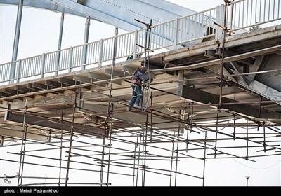 """عملیات بهسازی و نورپردازی """"پل سفید"""""""