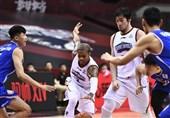لیگ بسکتبال چین| شکست تیم نصفه و نیمه حدادی در غیاب او