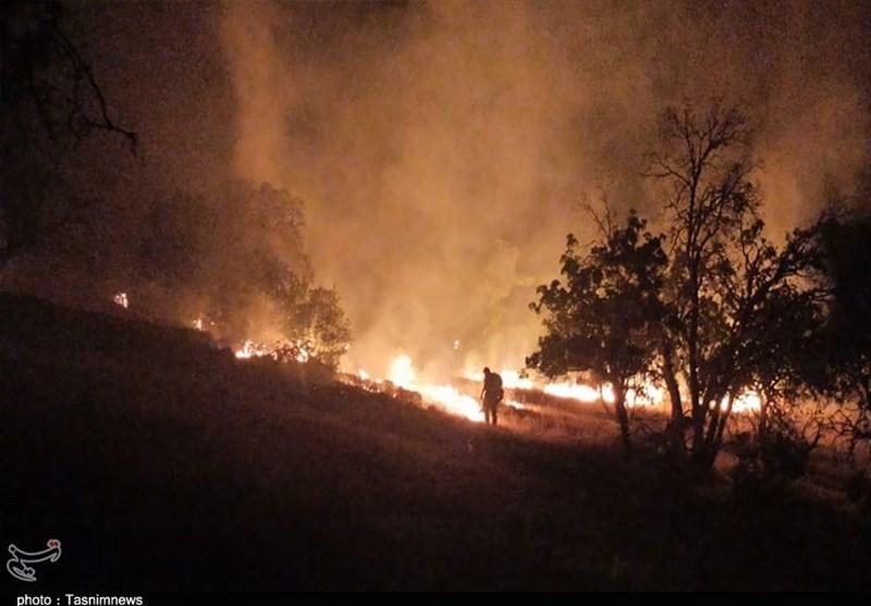 آتش سوزی جنگل ها و مراتع ,