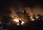 """کهگیلویه و بویراحمد  شعلههای آتش در جنگلهای """"دمچنار"""" همچنان زبانه میکشد"""