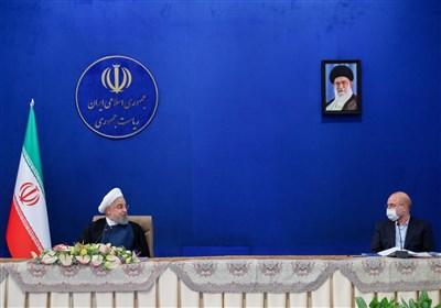 سخنگوی دولت خبر اعتماد را تکذیب کرد|ربیعی: خبر درگیری لفظی روحانی و قالیباف جعلی است
