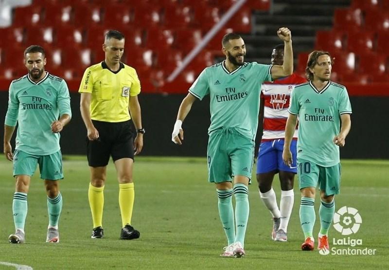 لالیگا| برتری رئال مادرید مقابل گرانادا؛ شاگردان زیدان یک برد تا قهرمانی