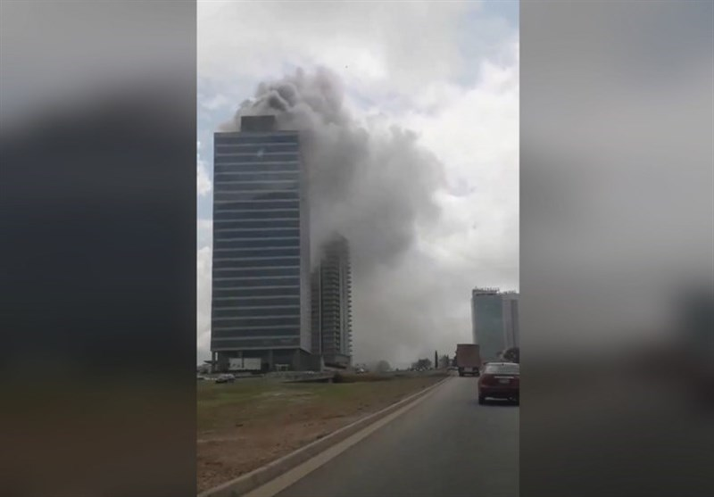 Huge Columns of Smoke As World Trade Center Catches Fire in Nigeria (+Video)