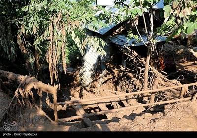 بارندگی شدید و سیلاب در روستای سجیران اشکور گیلان