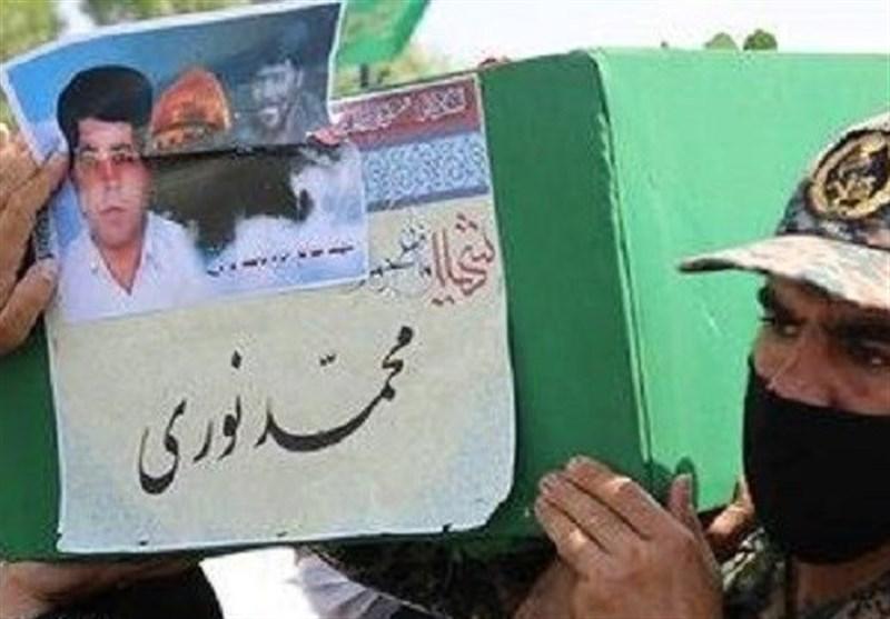 تشییع و تدفین پیکر مطهر شهید فاطمیون بعد از 6 سال