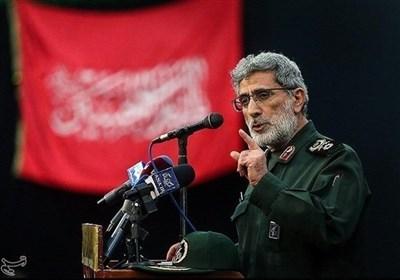 قائد قوة القدس: ماحدث لحاملة الطائرات یعد ردا على جرائم امریکا والذی نفذ على أیدی امریکیة