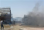 جزئیات آتشسوزی در کارخانه لنجسازی بوشهر / 7 شناور در آتش سوخت / حریق هنوز مهار نشده + تصاویر