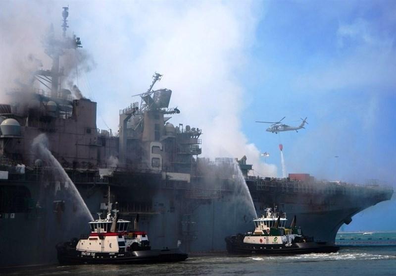 سیانان: آثار آتش سوزیهای گسترده سالها در ناوگان دریایی آمریکا احساس خواهد شد